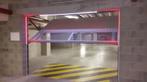 Portes de garage d'un parking sous-terrain
